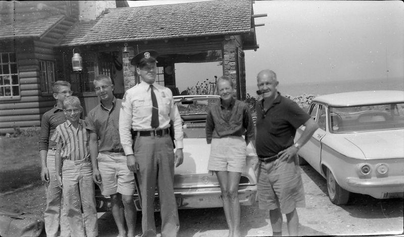 #97  Winston-Malcolm-Kenyon Francis&Annette Stebbins & Trooper Presque Isle MI 19 Aug'60