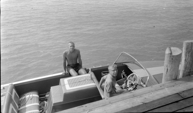 #3 Winston & Kenyon Stebbins Roaring Brook dock ME-2 boat Aug'61