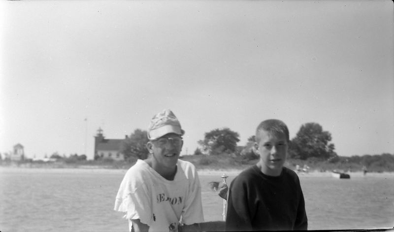 #8 Winston Stebbins & Barry Searles off Harbor Point Harbor Springs Aug'61