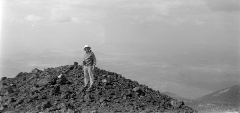 #154 Kenyon Stebbins atop Humphry's Peak Araz 3 July'62