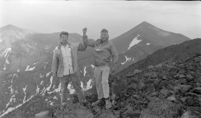 #161 Malcolm-Kenyon Stebbins atop Humphrey's Peak Arz 3 July'62