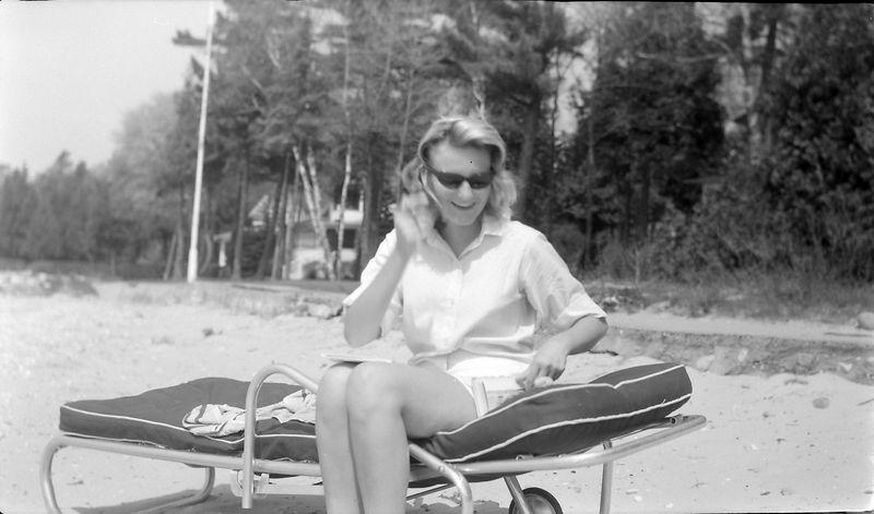 #84 Hallie Wright at Roaring Brook 22 May'62
