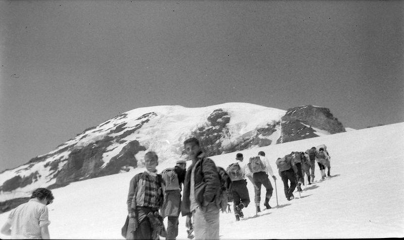 #54 Kenyon&Malcolm Stebbins enroute Mt Rainier Wash 15 July'62