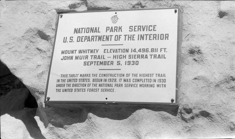 #13 Mt Whitney Plaque 7 July'62