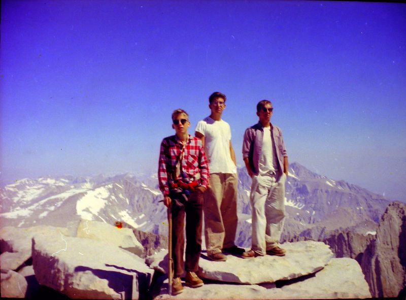 #4 Winston-Malcolm-Kenyon Stebbins atop Mt Whitney Calif 7 July'62