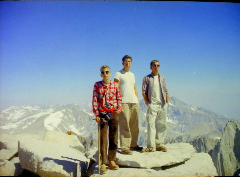 #4a Winston-Malcolm-Kenyon Stebbins atop Mt Whitney Calif 7 July'62