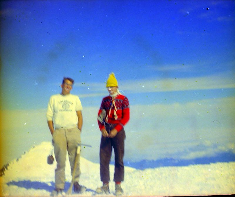 #40 Kenyon&Malcolm Stebbins Camp atop Mt Rainer Wash 14 July'62