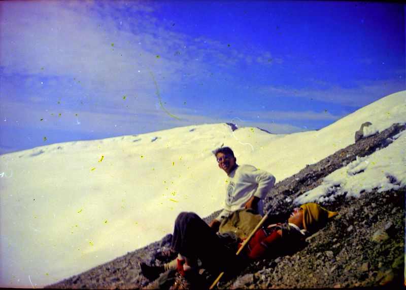 #41 Kenyon&Malcolm Stebbins Camp enroute Mt Rainer Wash 14 July'62