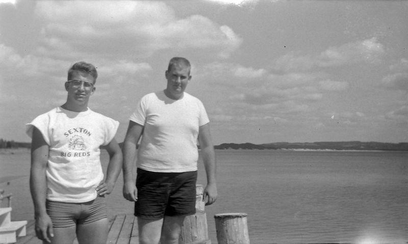 #144 Malcolm Stebbins & John Fischer Roaring Brook dock 14 July'63