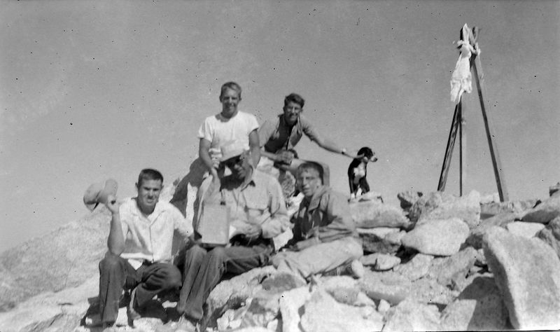 #23 Winston-Malcolm-Kenyon Stebbins & Guide&son Boundry Peak Nev 9 July'62
