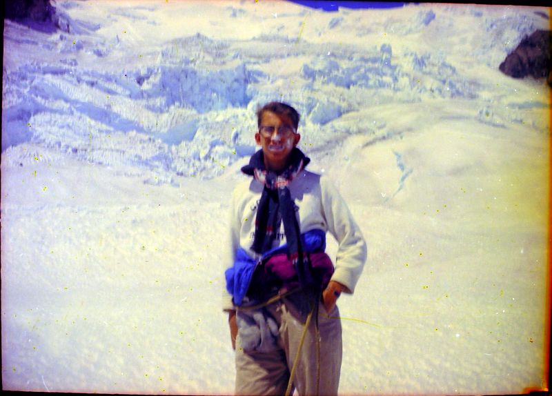 #35 Malcolm Stebbins enroute up Mt Rainer Wash 14 July'62