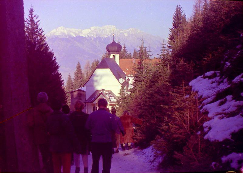 #21 Enroute to Men's Downhill ski race Innsbruck Austria 30 Jan'64