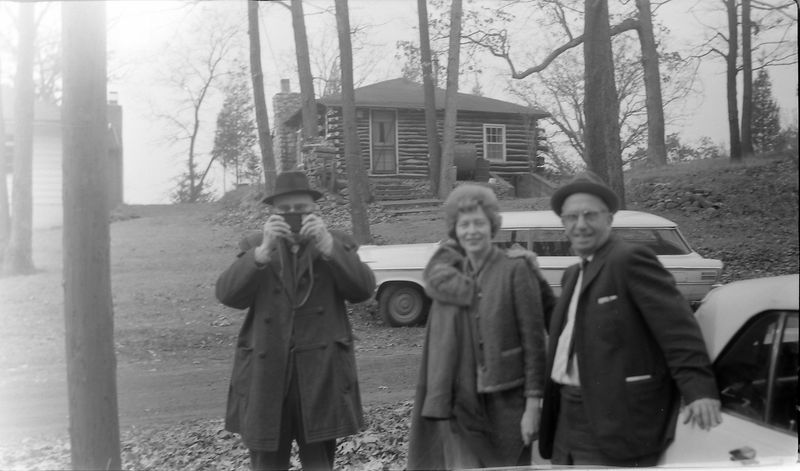 #189 Rowland Stebbins & Dave Bishop & Janet McDonald Halfmoon Lake Cottage Nov'65