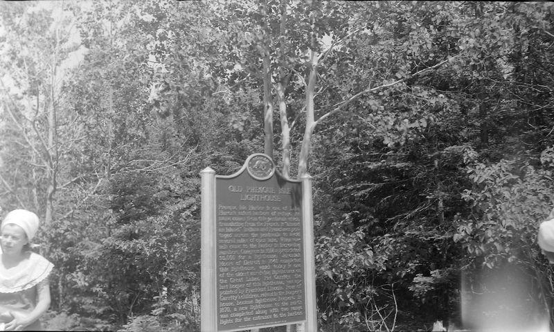 #172 Annete Stebbins Historical Marker at Presque Isle Mi June'65