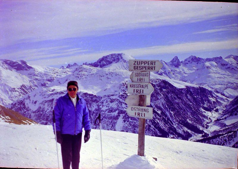 #17 Lester Bair at Lech Austria 28 Jan'64