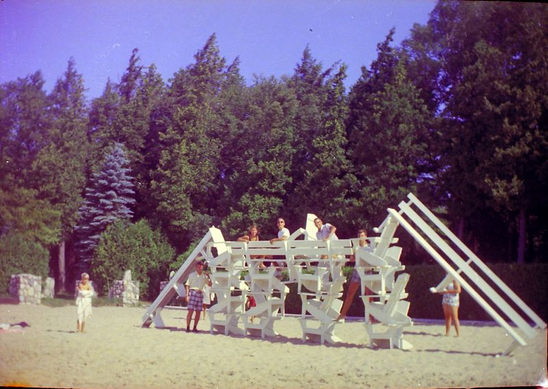 #88 Winston-Malcolm-Kenyon Stebbins & Roaring Brook gang on RB beach Summer'64