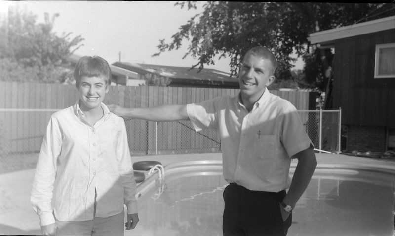 #178 Cristie Davis & Winston Stebbins at Davis' pool Sept'65