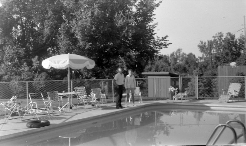 #179 Cristie Davis & Winston Stebbins at Davis' pool Sept'65