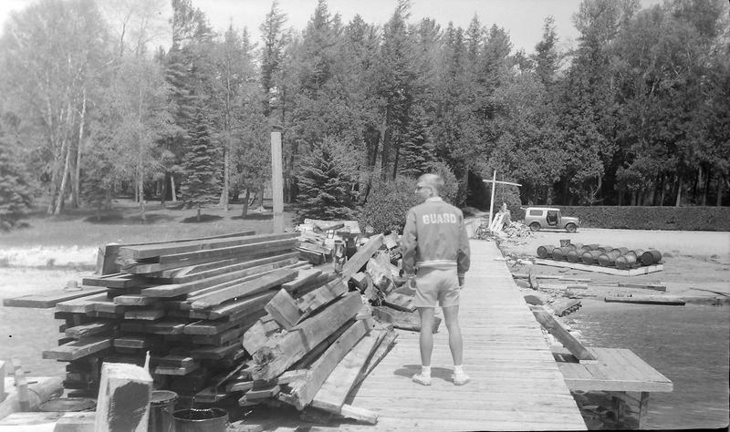 #163 Kenyon Stebbins at Roaring Brook dock 30 May'65