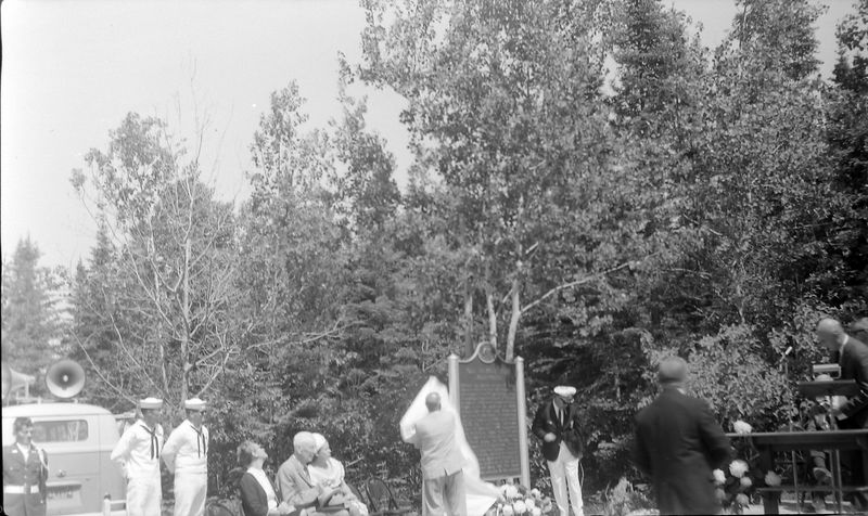 #173 Francis B Stebbins unveiling Historical Marker for Presque Isle Mi June'65