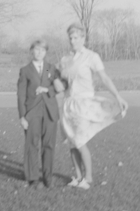 #187a Sandi Gallas & Kenyon Stebbins in drag for (maybe) Scurcne school day 29 Oct'65