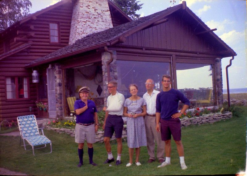 #95 Francis-Kenyon-Annette-Rowland-Malcolm at Presque Isle MI Summer'64