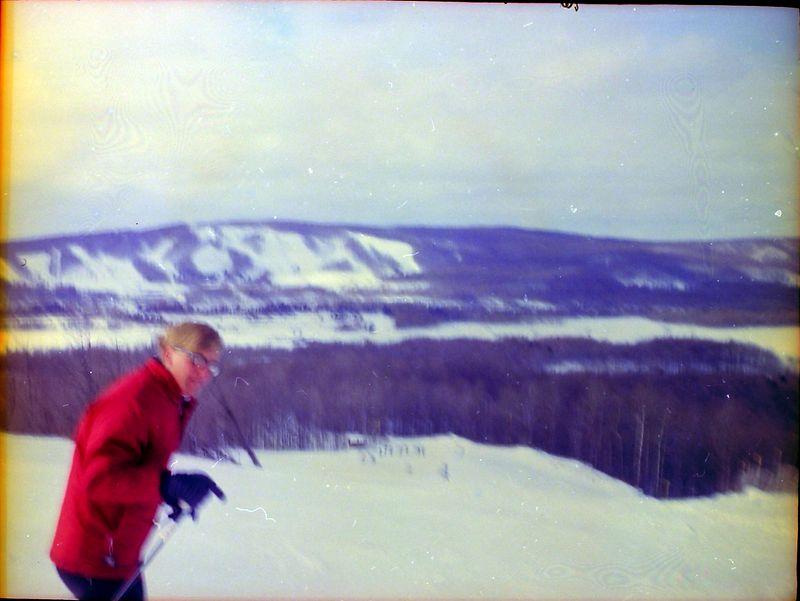 #38 Kenyon Stebbins at Nub's Nob (Boyne in background) Jan'66