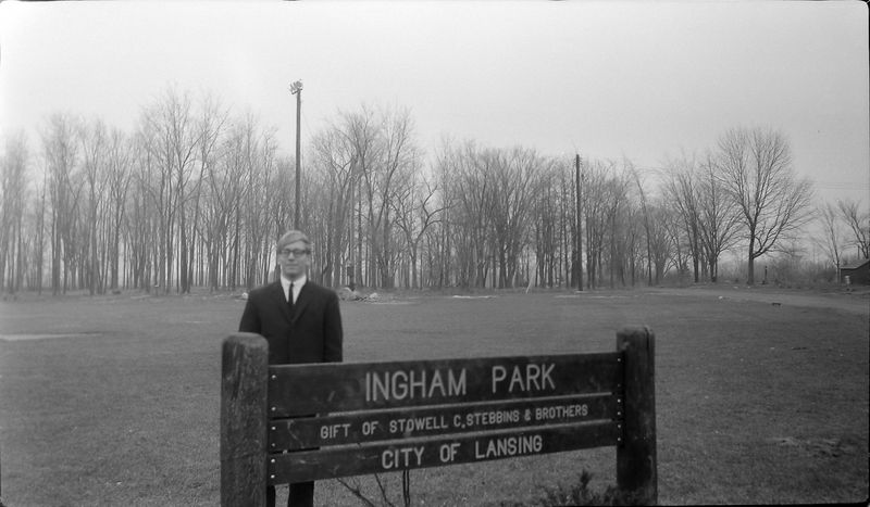 #10 Kenyon Stebbins at Ingham Park (gift of Stowell Stebbins) Lansing Nov'65