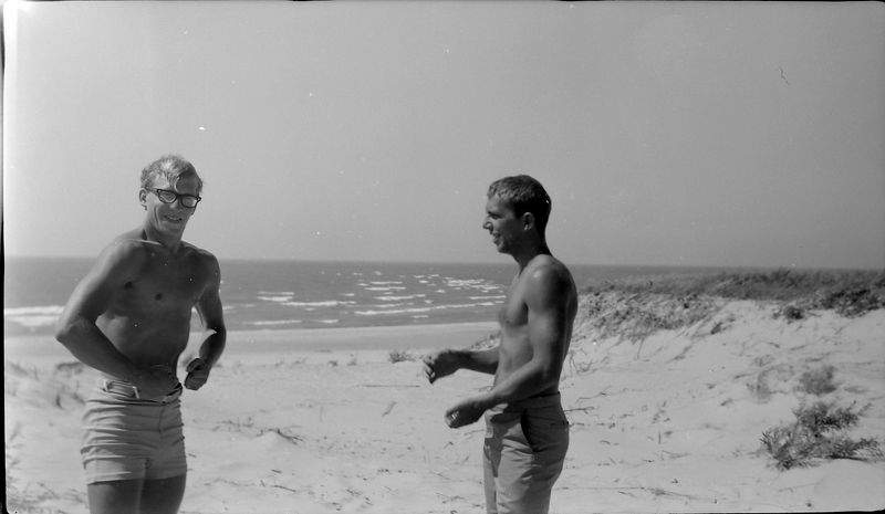 #74 Kenyon&Winston Stebbins at beach undated about 1965-66