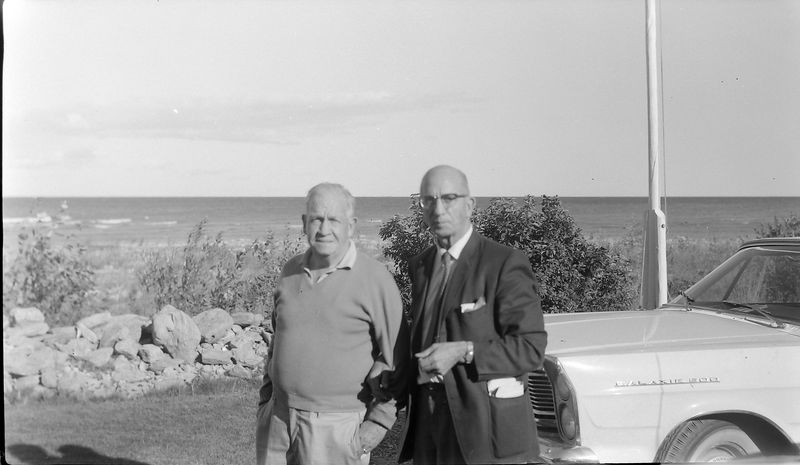 #90 Francis & Rowland Stebbins at Presque Isle cottage undated about 1965-66