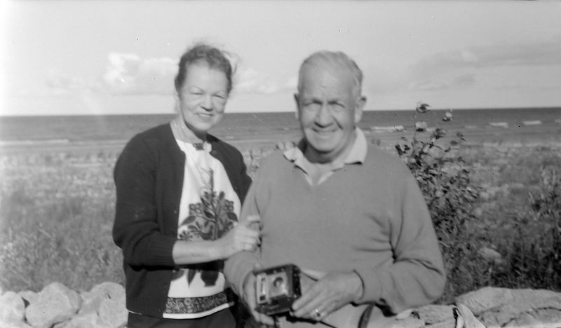 #89 Francis & Annette Stebbins at their Presque Isle Mi cottage undated about 1965-66