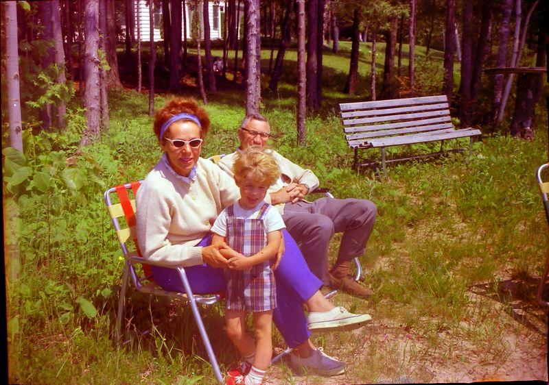 #98 Marie & Elmer Manson & Grandson Roaring Brook July'67