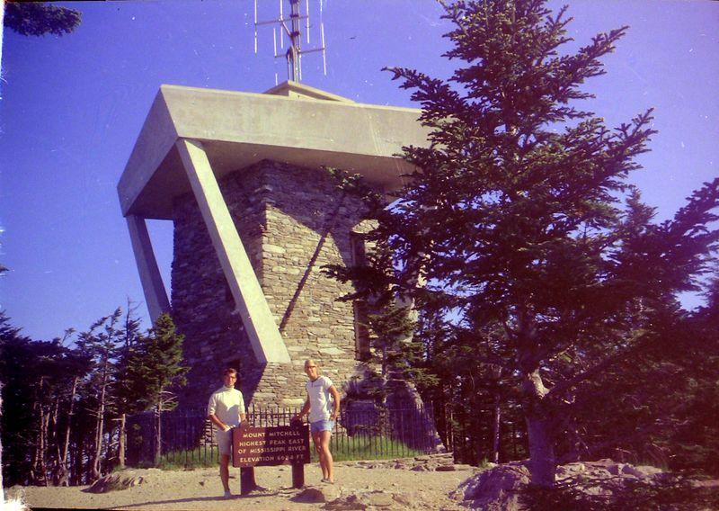 #153 Malcolm&Kenyon Stebbins Mt Mitchell NC June'68
