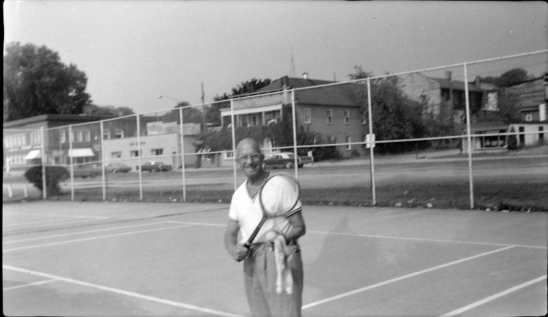 #12 Rowland Stebbins plays tennis in Harbor Springs Mi Sept'68