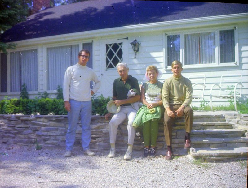 #118 Malcolm&Kenyon Stebbins & George&Betty Arbaugh at Remien's Roaring Brook Jne'69