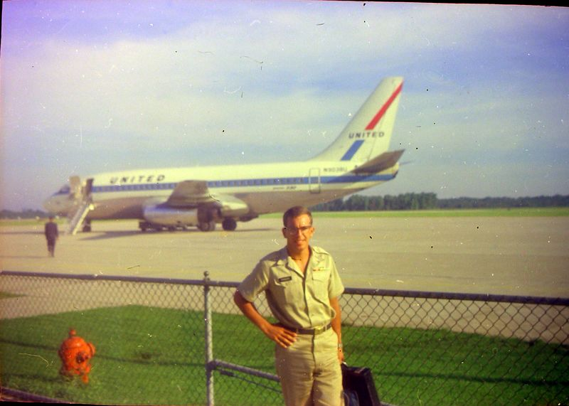 #125 Winston Stebbins in army uniform Lansing Airport July'69