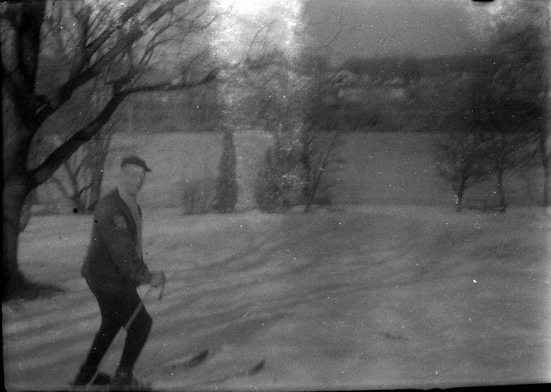 #124-131 group Rowland Stebbins skiing at 1710 MRD Fall-March 1970