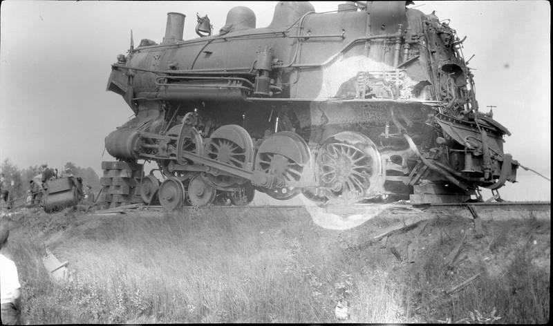 #35 Freight Engine wreck near Odin Michigan 1918