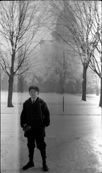 #26 Winter Weather - George GAS Stebbins - State Capital in background