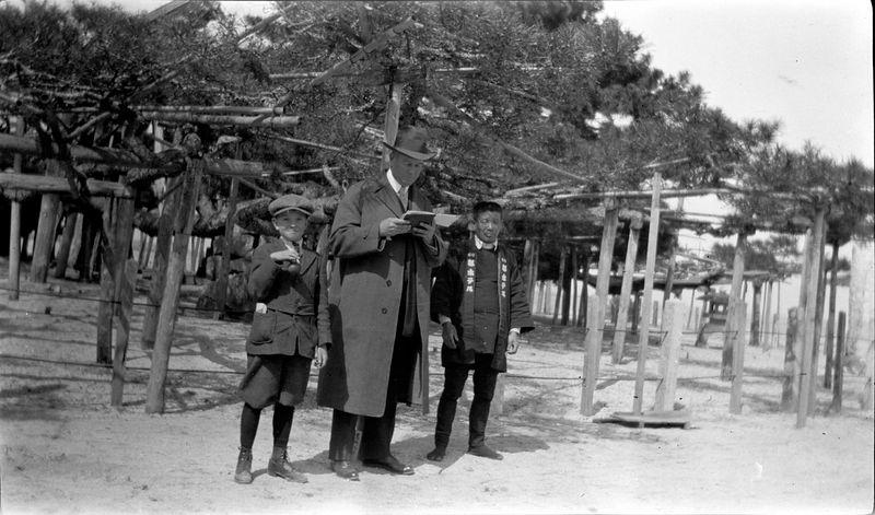 # 78 Pine tree (1000 yrs old)  George & ACS - Japan