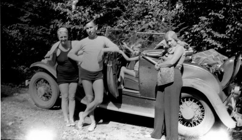 #166 Bathers (Marie - Cortland - Madeline - boy) at Roaring Brook