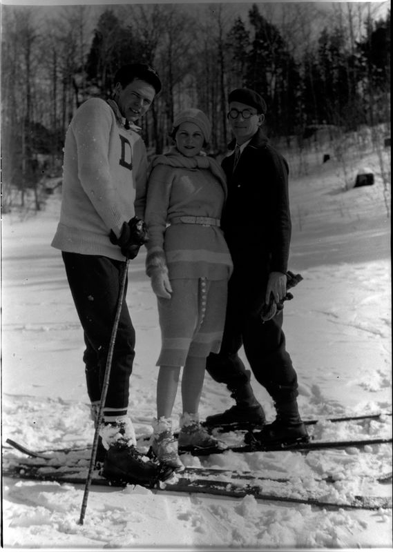 #51 Dick Herman - Betty Spier - C Rowland Stebbins - Skiing at Wequetonsing