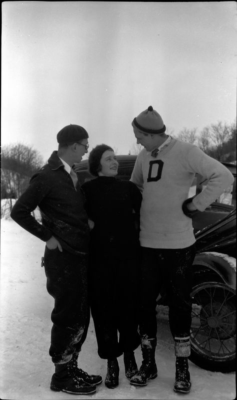 #53 C Rowland Stebbins - Grace Erwin - Dick Herman - Skiing in Harbor Springs MI