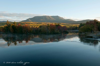 Katahdin from Abol bridge; sunrise
