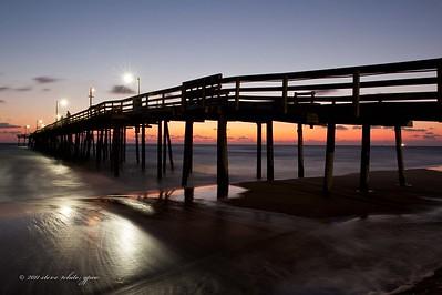 sunrise; nags head pier