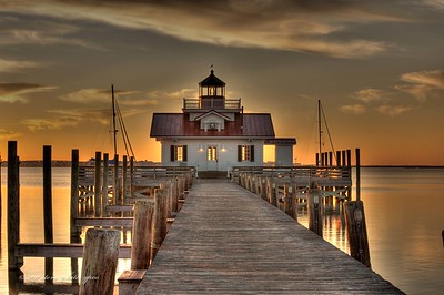 sunrise; manteo harbor; hdr