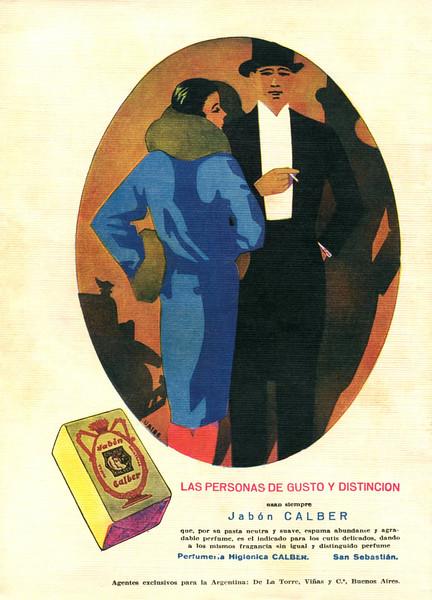 CALBER soap 1928 Spain 'Las personas de gusto y distinción usan siempre Calber'