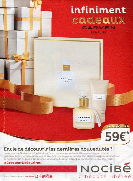 CARVENLe Parfum  2017 France (Nocibé stores) 'Envie de découvrir les dernières nouveuatés?'