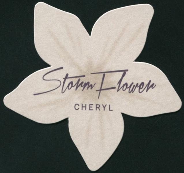 CHERYL Storm Flower (flower-shaped tester card 6 x 5,5 cm)