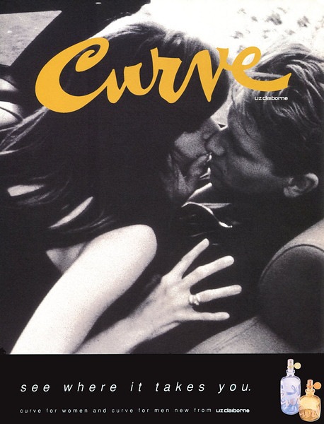 LIZ CLAIBORNE Curve 1996 Spain 'See where it takes you - Curve for Women and Curve for Men new from Liz Claiborne'